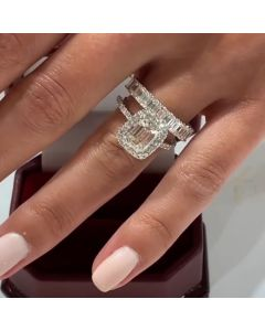 Emerald Cut Bridal Set