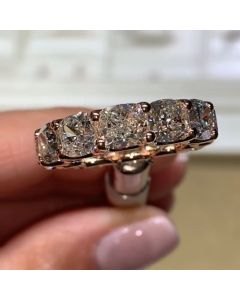 Rose Gold Eternity Wedding Band