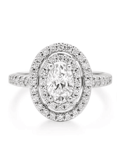 Halo Oval Cut Engagement Ring