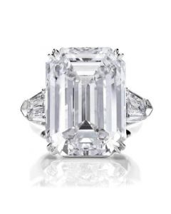Emerald Cut Three Stone Cocktail Engagement Ring
