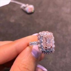 Triple Halo Radiant Cut Engagement Ring