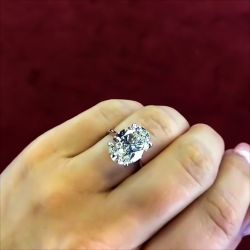Oval Solid Engagement Ring