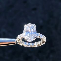 Eternity Oval Cut Engagement Ring