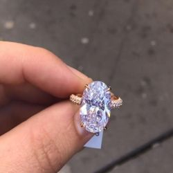 Three Row Oval Cut Engagement Ring