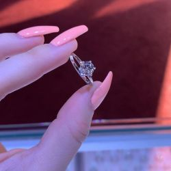 Six-Prong Round Cut Engagement Ring