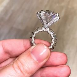 Six-Prong Oval Cut Engagement Ring