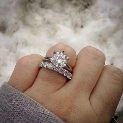 Solitaire Round Cut Bridal Set