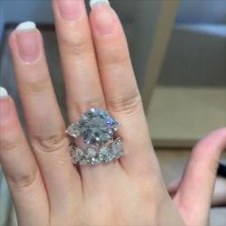 Three Stone Round & Pear Cut Bridal Set