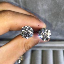 Symmetrical Double Pear Cut Earrings
