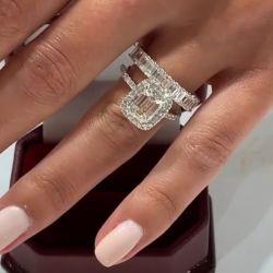 Emerald Cut Bridal Set